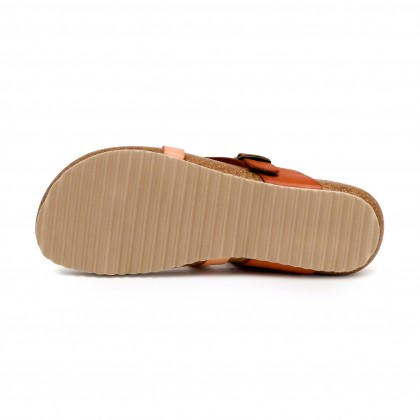 Woman Leather Bio Sandals Cork Sole 893 Leather, by Morxiva Shoes