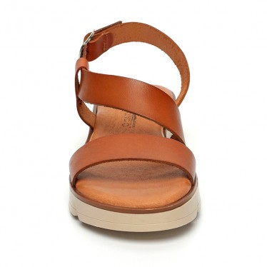 Woman Leather Low Wedged Sandals Padded Insole 166 Leather, by Blusandal