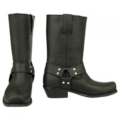 Men Biker Boots by Johnny Bulls 4829 BLACK SIDE