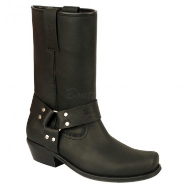 Men Biker Boots by Johnny Bulls SEV4829 BLACK