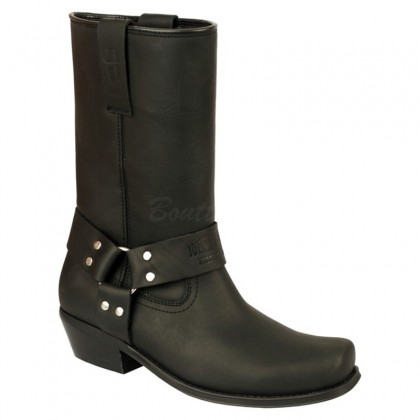 Men Biker Boots by Johnny Bulls 4829 BLACK