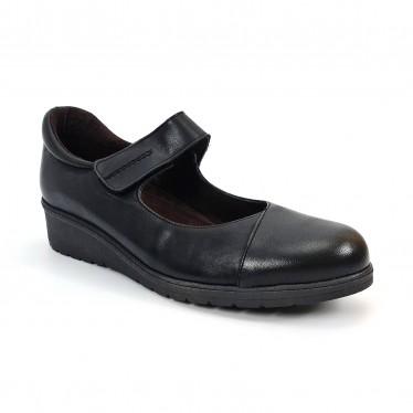 Merceditas Mujer Piel Velcro Plantilla Extraíble 70805 Negro, de Tupié