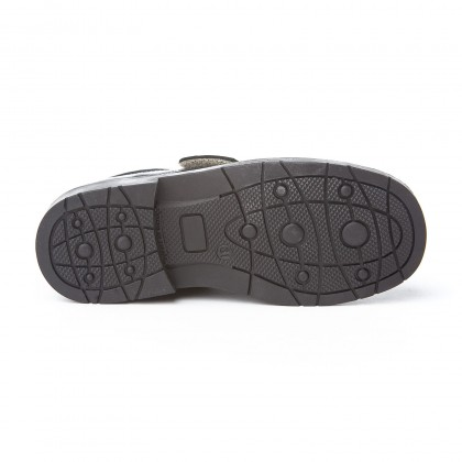 Boys Leather School Shoes Velcro 435 Navy, by AngelitoS